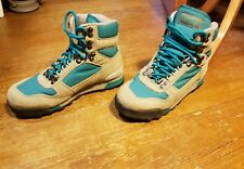 Vintage VASQUE Hiking Boots 80s Leather Nylon Men's Size 5.5 Turquoise