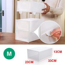 6/12 Set Transparent Shoe Storage Box Stackable Household Drawer Organizer Boxes