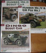 WWP R53 Humber Mk.II R55 DINGO R63 Humber Mk.IV GM Fox Mk.I Scout Car in detail