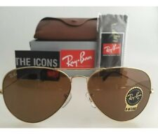 Ray-Ban Sunglasses Aviator 3025 001/33 Gold Brown Medium 58mm