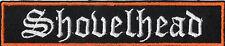 Shovelhead Patch écusson blouson Harley Chopper MC BIKER V Rod Neuf 13,5x2, 7 cm
