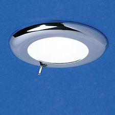 Caravan/Motorhome 12 Volt Switch Light With Crome Surround Complete With Bulb