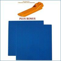 LEGO Separator PLUS BONUS: 2 Blue 10x10-inch 32x32-stud compatible base plates