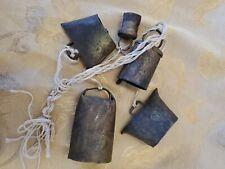 Vintage Rustic Metal Windchime Cow Bells