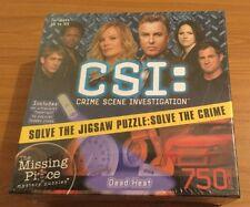 CSI SOLVE THE JIGSAW 750 PIECE JIGSAW PUZZLE 'DEAD HEAT' *SEALED**