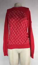 Adidas Golf Womens Sz S Exclusive Sweater Sample Red Long Sleeve