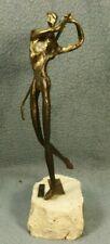 Scarnicci Bronze 1987 Berner Oberlander Golf Award Abstract Brutalist Sculpture