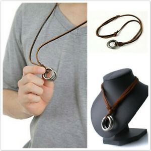 Birthday Fashion New Cowhide Necklace As Picture Wedding Leather Rope Jewelry FM