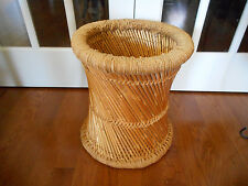 Bamboo Basket with Twine Wrapping