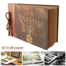 Vintage DIY Photo Album Our Adventure Book Memory Anniversary Scrapbook Travel
