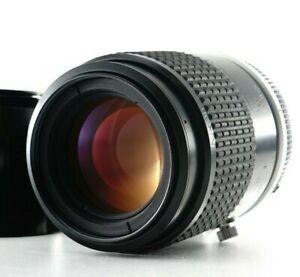 Near MINT Nikon Micro-Nikkor Ai-s 105mm F/2.8 MF Lens w/Hood HS-14 From Japan