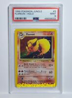 Original Flareon Holo Rare Jungle Set Collection 3/64 Classic 1999 Star Foil PSA