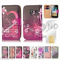 New Wallet PU LEATHER CASE COVER FOR GALAXY ACE 2 I8160 + SCREEN PROTECTOR