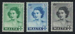 Malta Visit of Princess Elizabeth 3v 1950 MNH SG#255-257