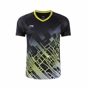 Li-Ning Men Badminton T-Shirts table tennis clothes Sport Tops
