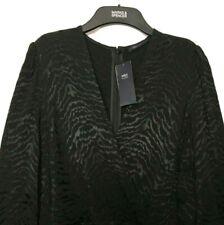 Ladies M&S Jumpsuit / Black Animal Print Silky 16 BNWT £55 / Marks Women