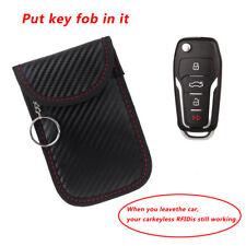 Carbon Fiber Car Key Signal Blocking Case RFID Key Protector Anti-Hacking Bag