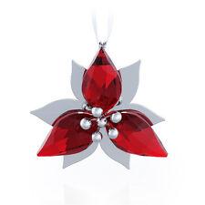 SWAROVSKI POINSETTIA ORNAMENT SILVER TONE BRAND NEW IN BOX #5064278 CHRISTMAS FS