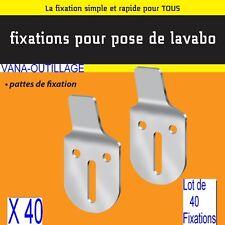 40 Support Acier 2,5 mm,Pattes Fixation Mural,Lavabo,Evier,écart du Mur:10 mm