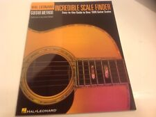 Incredible Scale Finder 1300 Guitar Scales Hal Leonard Method 6x9 Music Book New