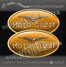 ADESIVI DECAL STICKERS MOTO GUZZI STORE CALIFORNIA 2 PZ. ALTA DEFINIZIONE CUSTOM