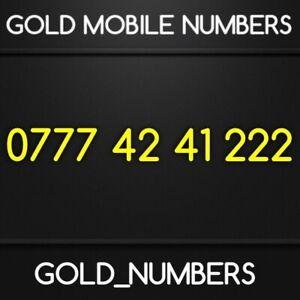 GOLD 0777 EASY MEMORABLE GOLDEN MOBILE NUMBER GOLD SIM 07774241222