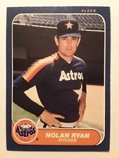 1986 Fleer NOLAN RYAN #310 Houston Astros Baseball Card