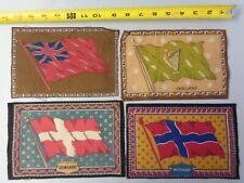Lot of 4 Vint 1900's Tobacco Cigarette Felt - Denmark, Ireland, England, Norway