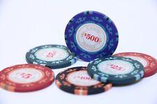Poker 6x Chips Set CASINO ROYALE 007 James Bond Cartamundi $5 $25 $100 $500 14g
