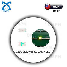 100Pcs 1206 3216 SMD SMT LED Chip Yellow Green Light Lamp Emitting Diodes Beads