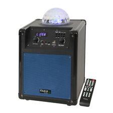 Ibiza mobile DJ Karaokeanlage Lautsprecher mit LED Lichteffekt Bluetooth