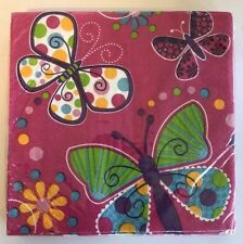 Butterfly Luncheon Napkins Birthday Wedding Event Spring Summer Rebirth