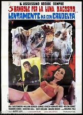 5 BAMBOLE PER LA LUNA D'AGOSTO MANIFESTO CINEMA FENECH MARIO BAVA 1970 POSTER 2F