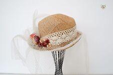 Luxury Handmade Hat Silk Flower Special Fascinator Wedding Races Mother Bride