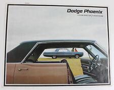Dodge Pheonix  sales brochure 4 door / hardtop and sedan as new