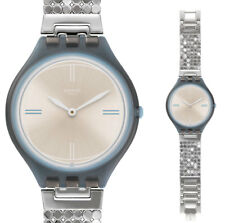 Swatch Skin Skinscreen L Watch SVOM101GA Analogue Stainless Steel Silver