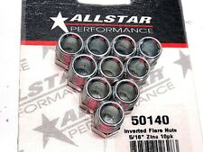 "AllStar 5/16"" Brake Line Inverted Flare Nut 1/2"" -20 Fitting Steel 10 Pack"