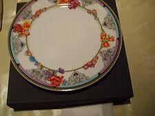 ROSENTHAL. VERSACE. HOT FLOWERS. 23 CM  SET OF 4 SALAD PLATES.  NEW. RETAIL: $
