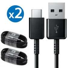 2x OEM Samsung Fast Charge USB-C USB Type C Cable for Galaxy S8 S9 Plus Note 8 9