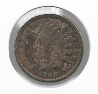 Rare Old Antique US 1862 Indian Head Penny Civil War Collection Coin USA Lot Y72