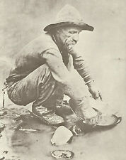 "WESTERN Prospector GOLD RUSH Panning VINTAGE Photo Print 787 11"" x 14"""