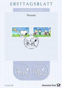 Frg 2018: Peanuts! First Day Sheet Der No 3369 And 3370 With Bonner Stamp! 20-10