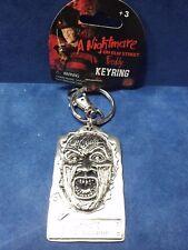 Freddy Krueger METAL KEYCHAIN KEYRING  Nightmare on Elm Street  NWT