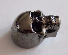 Metallknopf Potiknopf Knopf Skull II Totenkopf Q-parts schwarzchrom