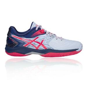 Asics Womens Blast FF Indoor Court Shoes Blue Pink Sports Squash Badminton
