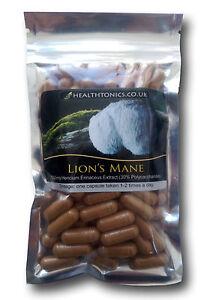 Lions Mane Mushroom Extract (10:1 equivalent to 4,000mg ), Vegetarian Capsules