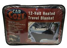 "Car Cozy 12 Volt Heated Travel Blanket Blue Large 42"" X 58"" Fleece New"