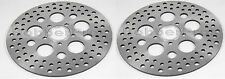 """Harley Brake Disc Rotors 11.5"""" Satin Finish Vented Stainless Steel ( 2 Front )"""