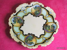 """Rosenthal Monbijou 9"""" FOOTED CENTERPIECE BOWL Hand Painted Peacocks & Signed"""