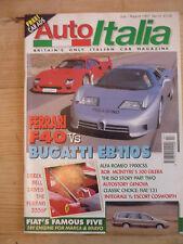 Auto Italia magazine no.15 Ferrari F4 Bugatti EB110S Alfa Romeo 1900CCS integral